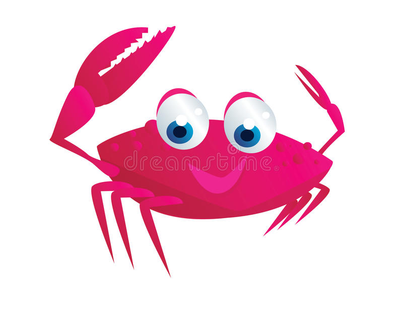 Bande dessinée de crabe illustration de vecteur