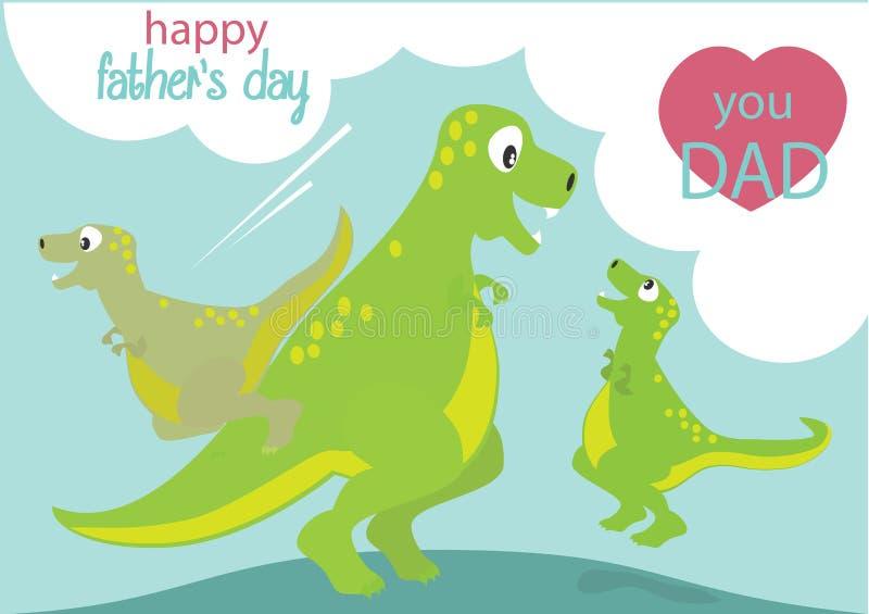 Bande dessinée de dinosaures illustration stock