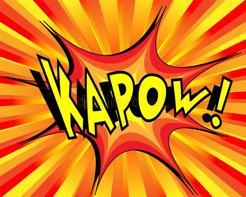 Bande dessinée de explosion Kapow illustration de vecteur