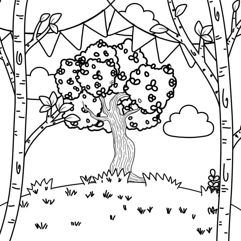 Bande dessinée de fête de partie illustration de vecteur