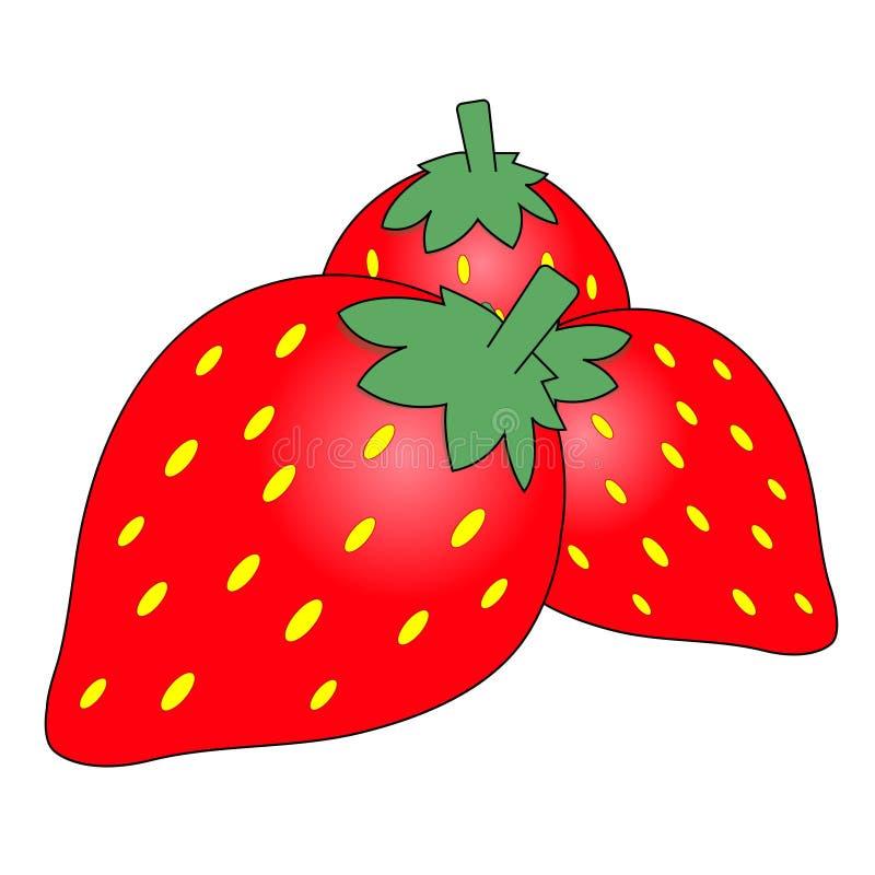 Bande dessinée de fraise image libre de droits