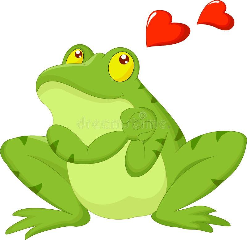 Bande dessinée de grenouille dans l'amour illustration libre de droits