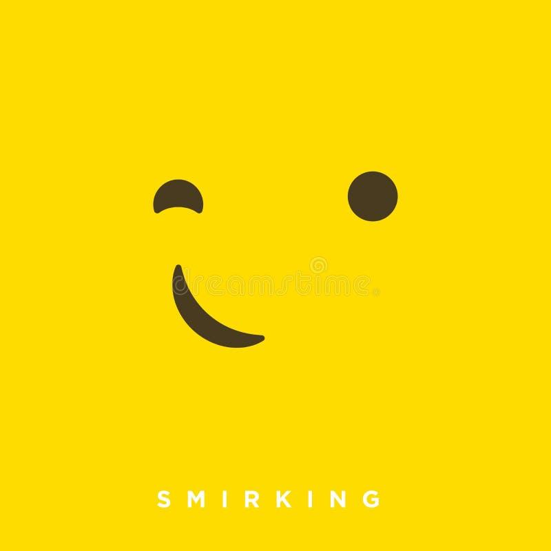 Bande dessinée de haute qualité de vecteur avec les émoticônes souriantes d'un air affecté avec le style plat de conception, réac illustration de vecteur