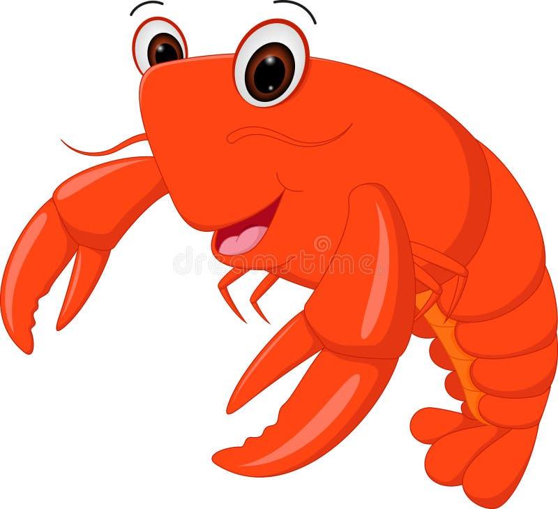 Bande dessinée de homard illustration stock