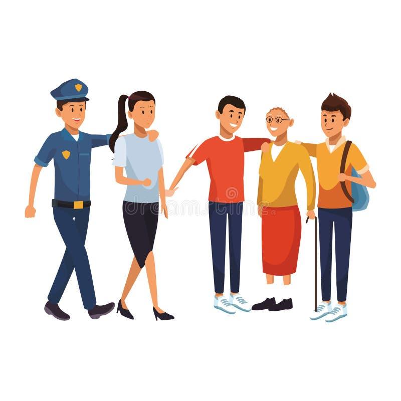 Bande dessinée de jeunes hommes illustration libre de droits