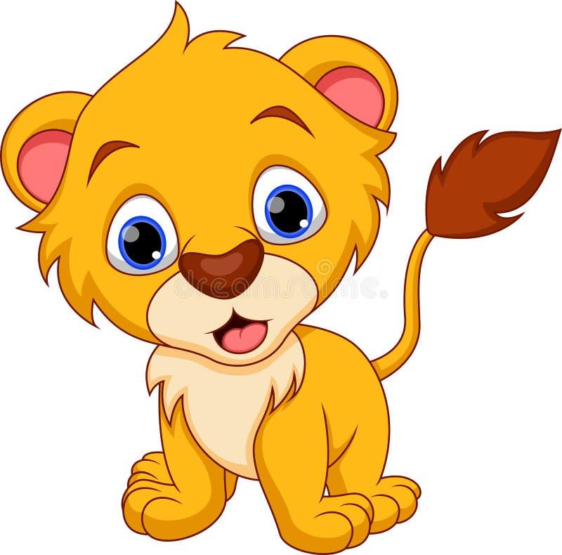 Bande dessinée de lion illustration de vecteur