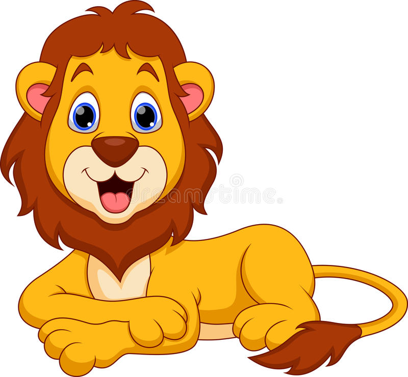 Bande dessinée de lion illustration stock