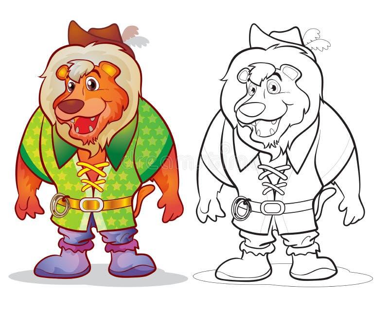 Bande dessinée de lion de mascotte d'imagination illustration libre de droits