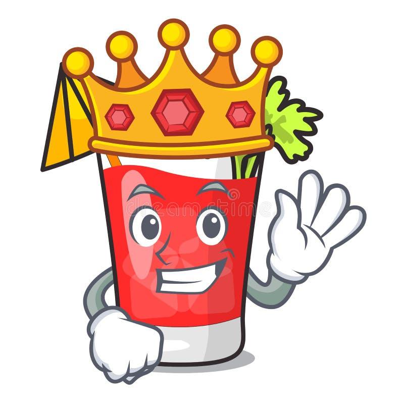 Bande dessinée de mascotte de bloody mary de roi illustration stock