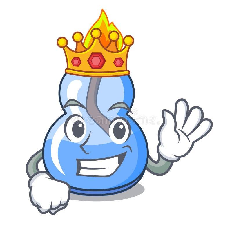 Bande dessinée de mascotte de brûleur à alcool de roi illustration libre de droits