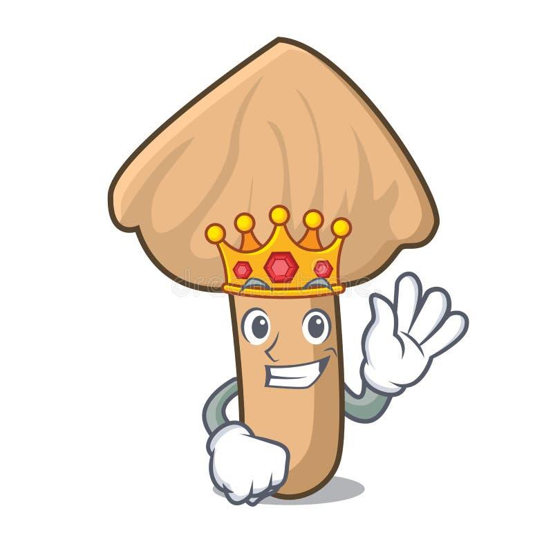 Bande dessinée de mascotte de champignon d'inocybe de roi illustration libre de droits