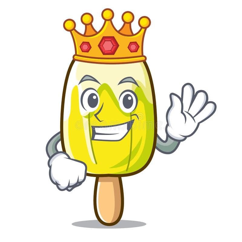 Bande dessinée de mascotte de crème glacée de citron de roi illustration libre de droits