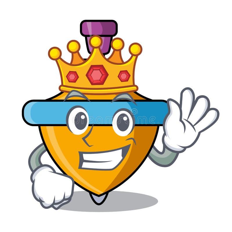 Bande dessinée de mascotte de dessus de rotation de roi illustration stock