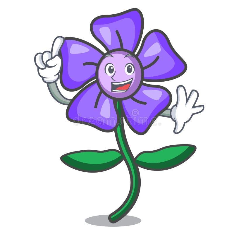 Bande dessinée de mascotte de fleur de bigorneau de doigt illustration libre de droits
