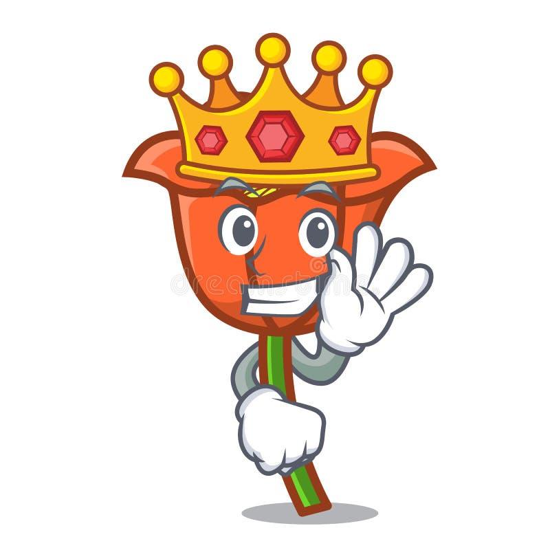 Bande dessinée de mascotte de fleur de pavot de roi illustration libre de droits
