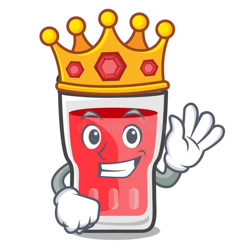 Bande dessinée de mascotte de mojito de fraise de roi illustration libre de droits