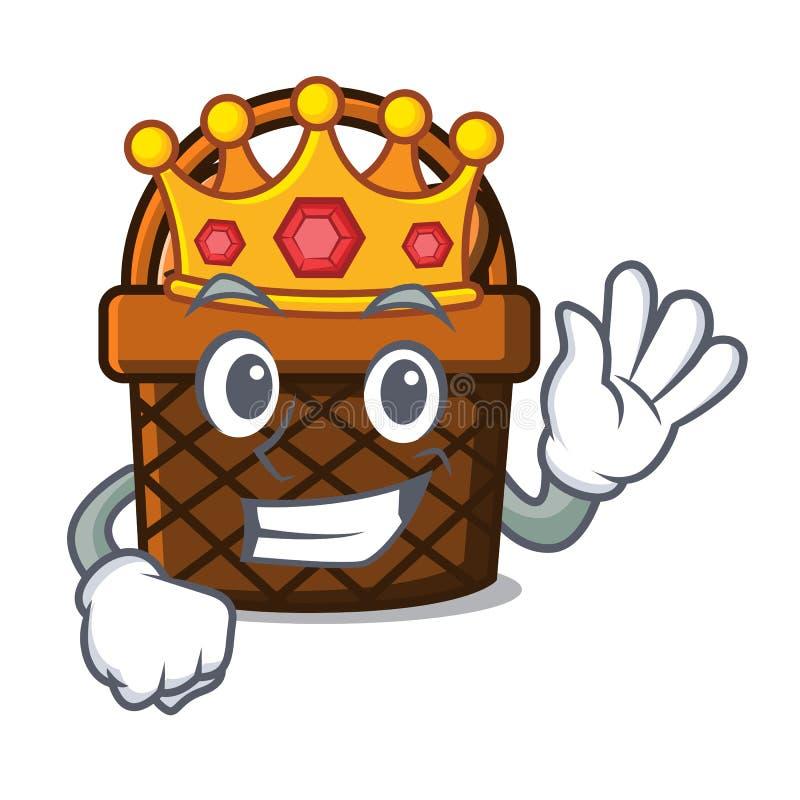 Bande dessinée de mascotte de panier de pain de roi illustration stock