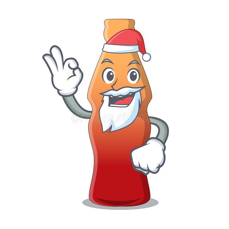 Bande dessinée de mascotte de sucrerie de gelée de bouteille de kola de Santa illustration libre de droits