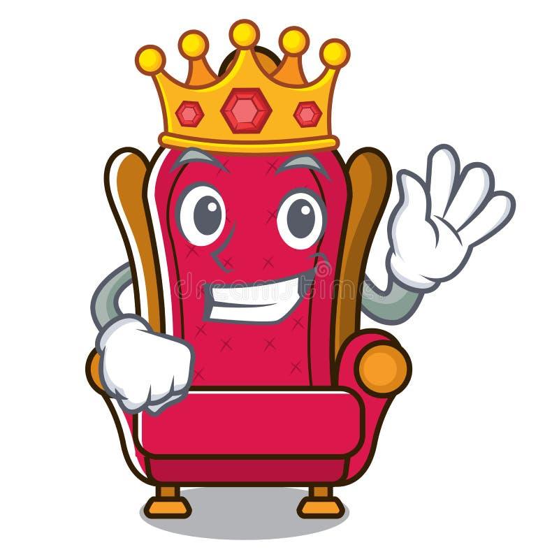 Bande dessinée de mascotte de trône de King de roi illustration libre de droits