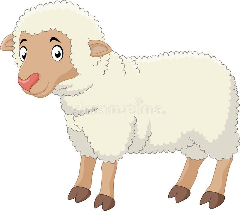 Bande dessinée de moutons de bébé illustration de vecteur