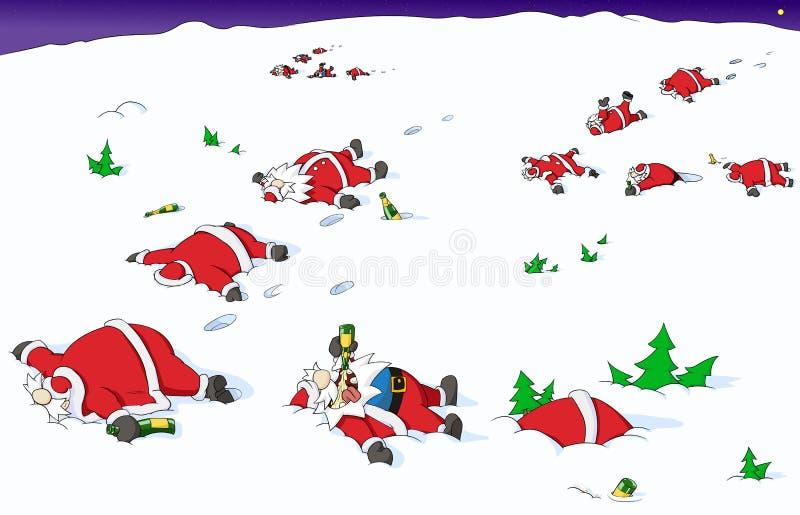 Bande dessinée de Noël de partie, sud allant illustration de vecteur