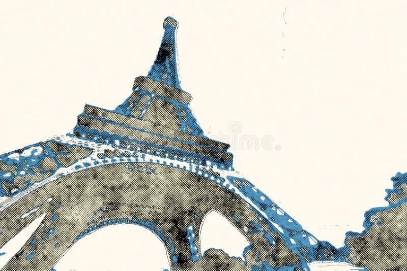 Bande dessinée de Paris illustration libre de droits