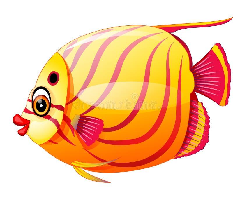 Bande dessinée de poissons illustration stock