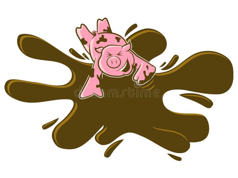 Bande dessinée de porc illustration de vecteur