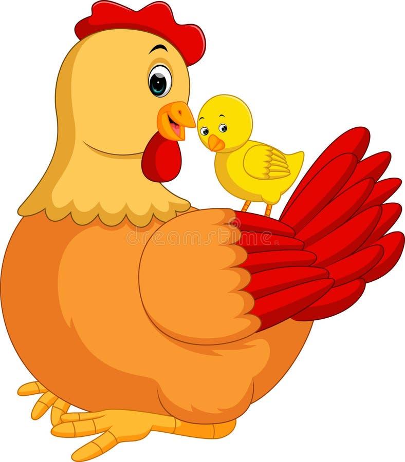Bande dessinée de poule de poulet illustration de vecteur