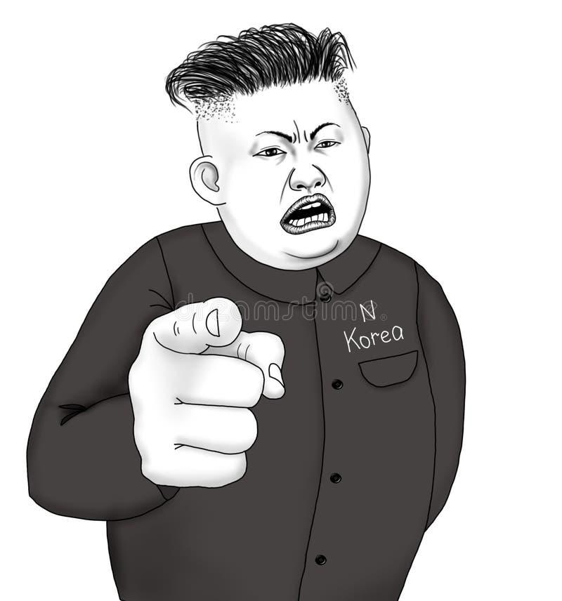 Bande dessinée de président de la Corée du Nord illustration stock