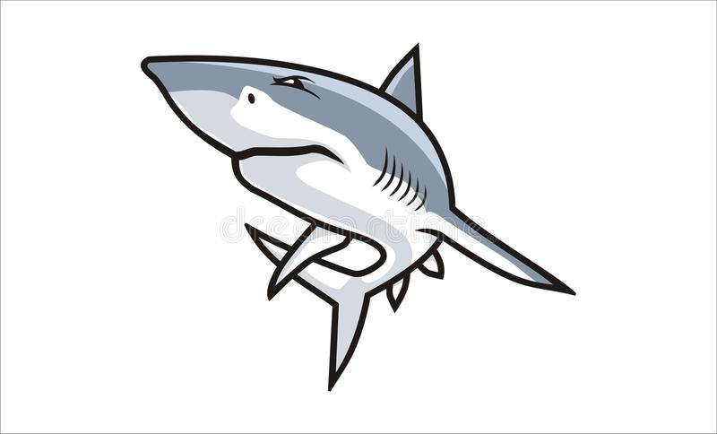 Bande dessinée de requin image libre de droits