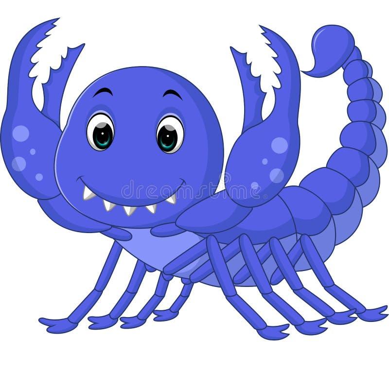 Bande dessinée de scorpion illustration de vecteur