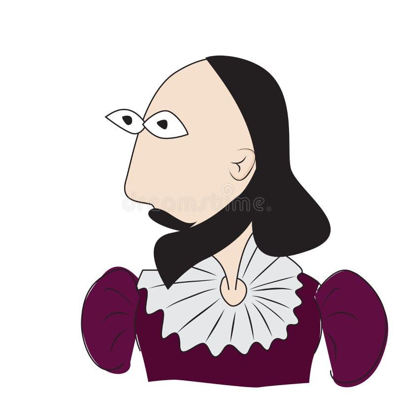 Bande dessinée de Shakespeare illustration libre de droits