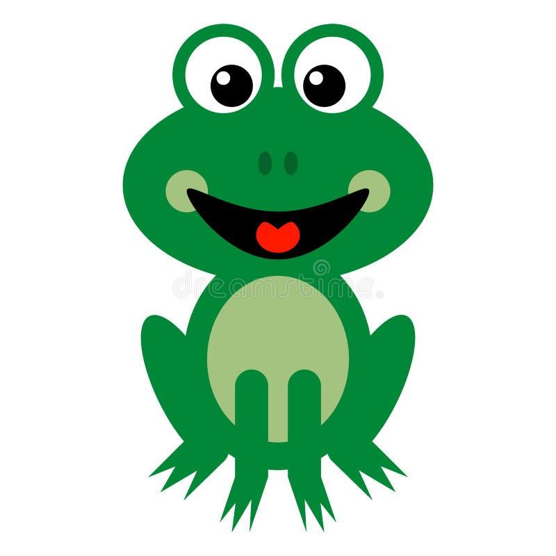 Bande dessinée de sourire de grenouille verte photographie stock libre de droits