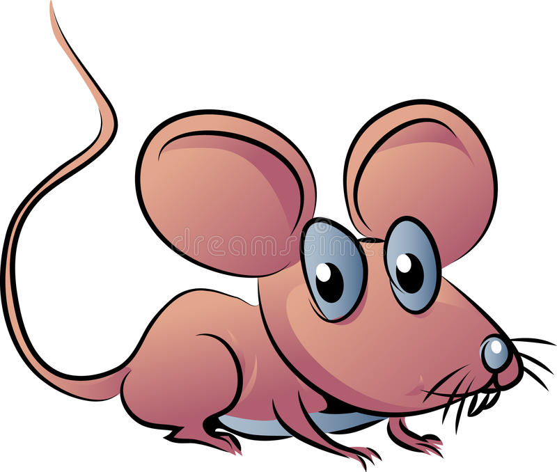 Bande dessinée de souris illustration stock