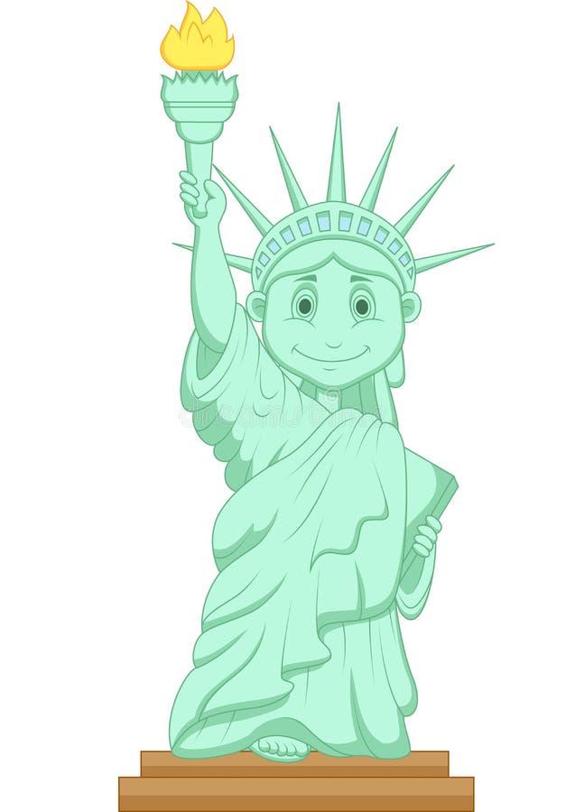 Bande dessinée de statue de liberté illustration libre de droits