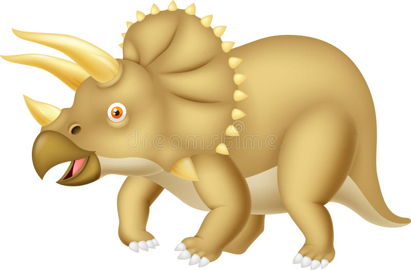 Bande dessinée de Triceratops illustration de vecteur
