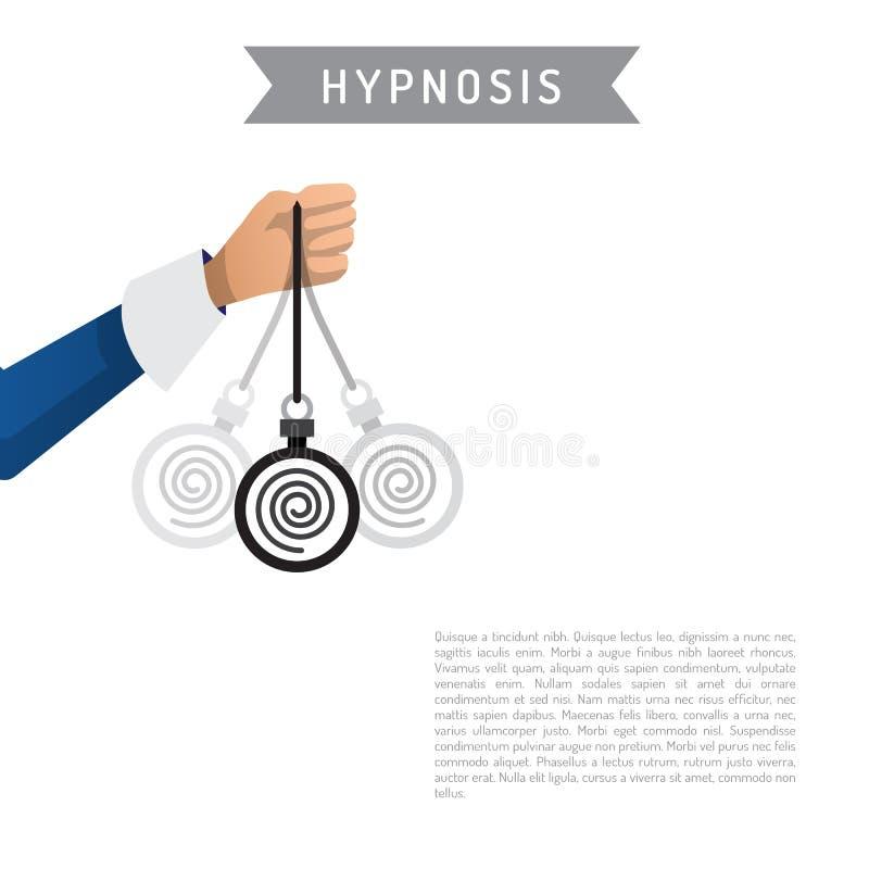 Bande dessinée de vecteur d'hypnose illustration de vecteur