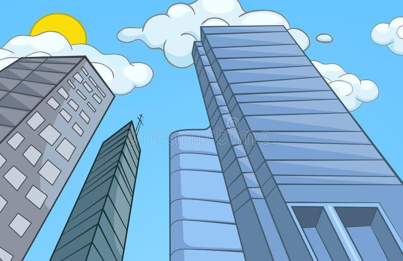 Bande dessinée de ville. illustration stock