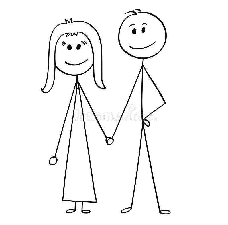Bande dessinée des couples heureux illustration de vecteur