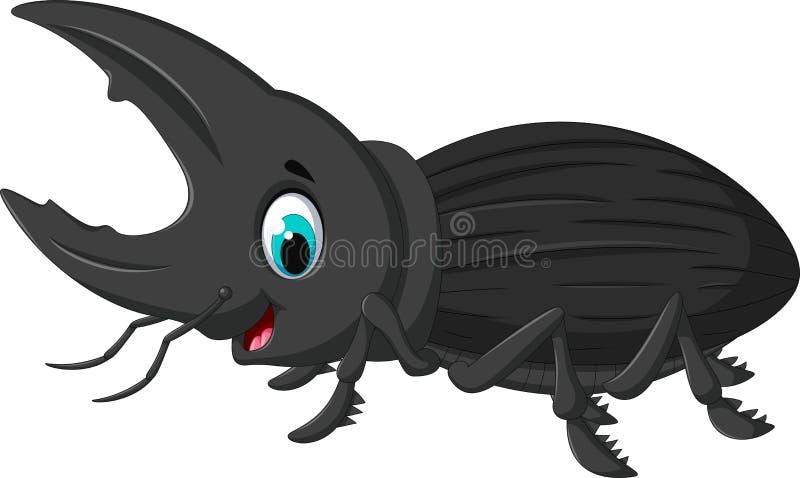 Bande dessinée drôle de Hercule d'insecte illustration de vecteur