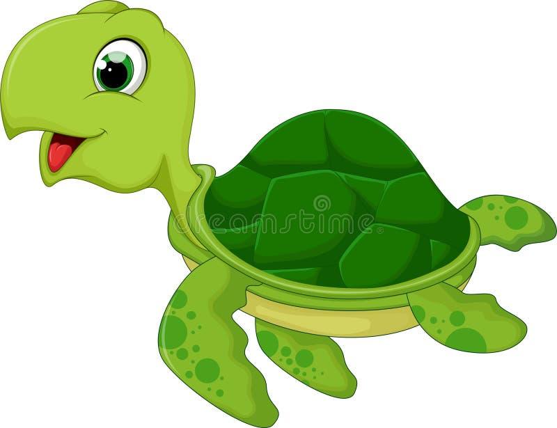 Bande dessinée drôle de tortue de mer illustration libre de droits