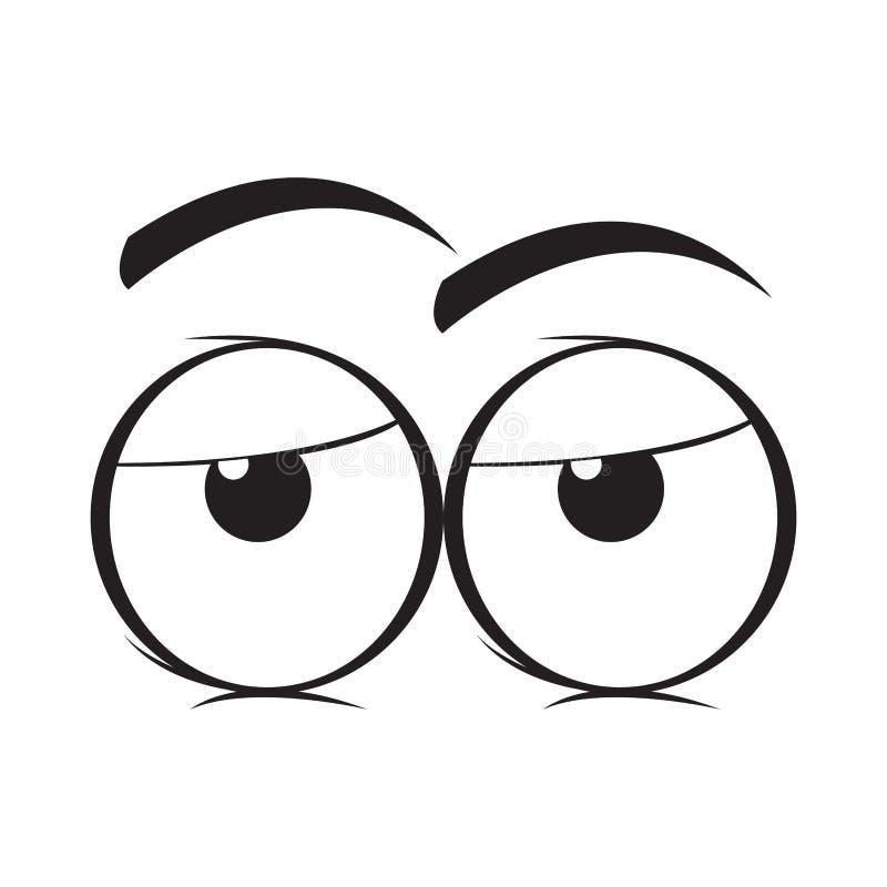 Bande dessinée ennuyée de yeux illustration libre de droits