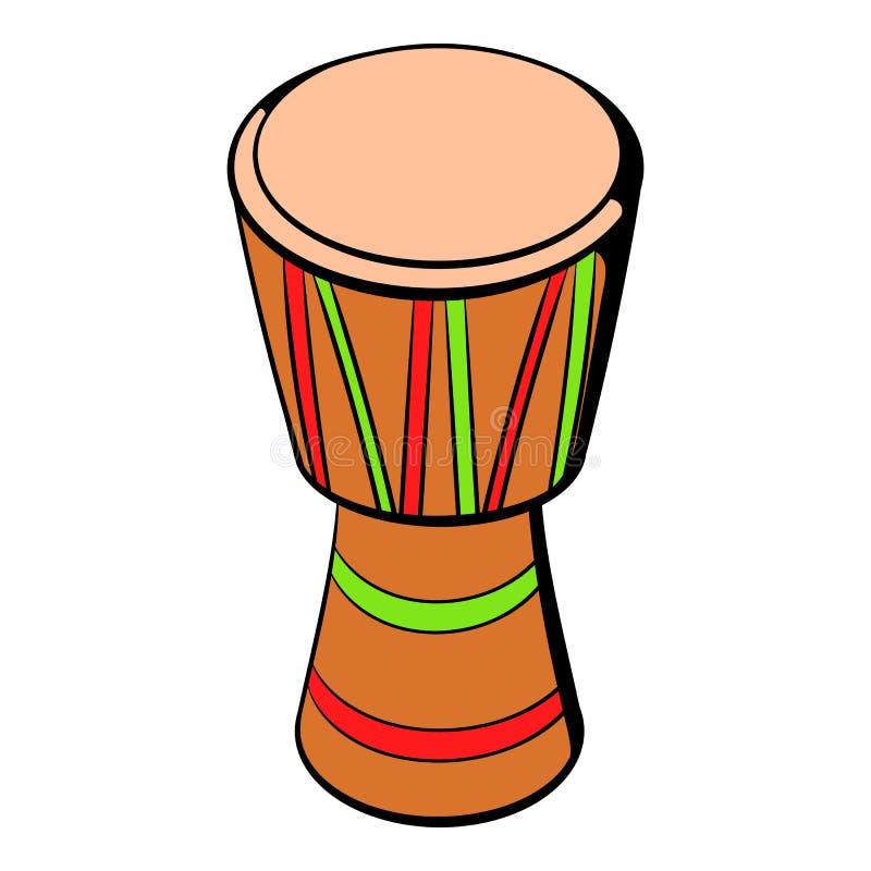 Bande dessinée ethnique australienne d'icône de tambour illustration de vecteur