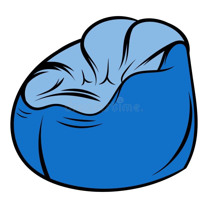 Bande dessinée flexible d'icône de chaise illustration stock