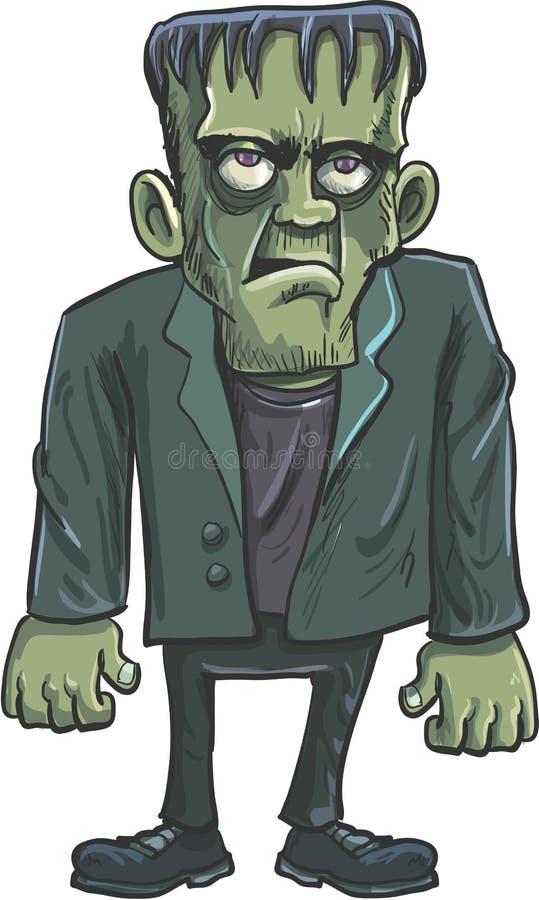 Bande dessinée Frankenstein vert illustration stock