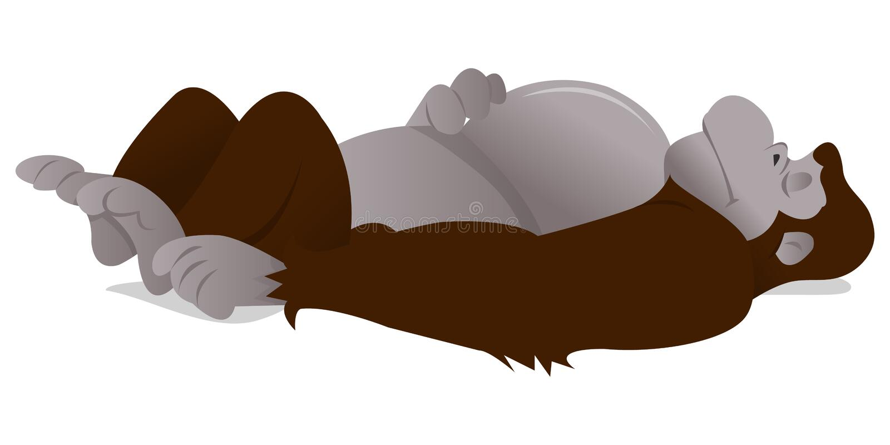 Bande dessinée Gorilla Sleeping illustration de vecteur