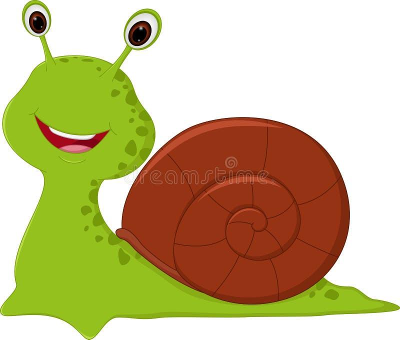 Bande dessinée heureuse d'escargot illustration libre de droits