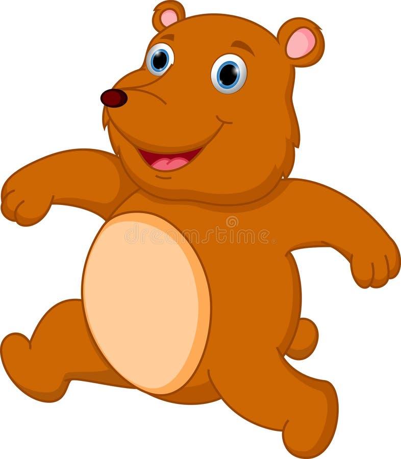Bande dessinée heureuse d'ours brun illustration libre de droits