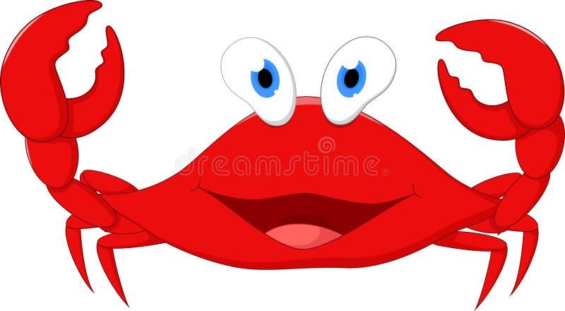 Bande dessinée heureuse de crabe illustration de vecteur
